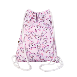Unicorn rugzakje / gymtas roze