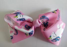 """Haarclip """"Eenhoorn"""" roze"""