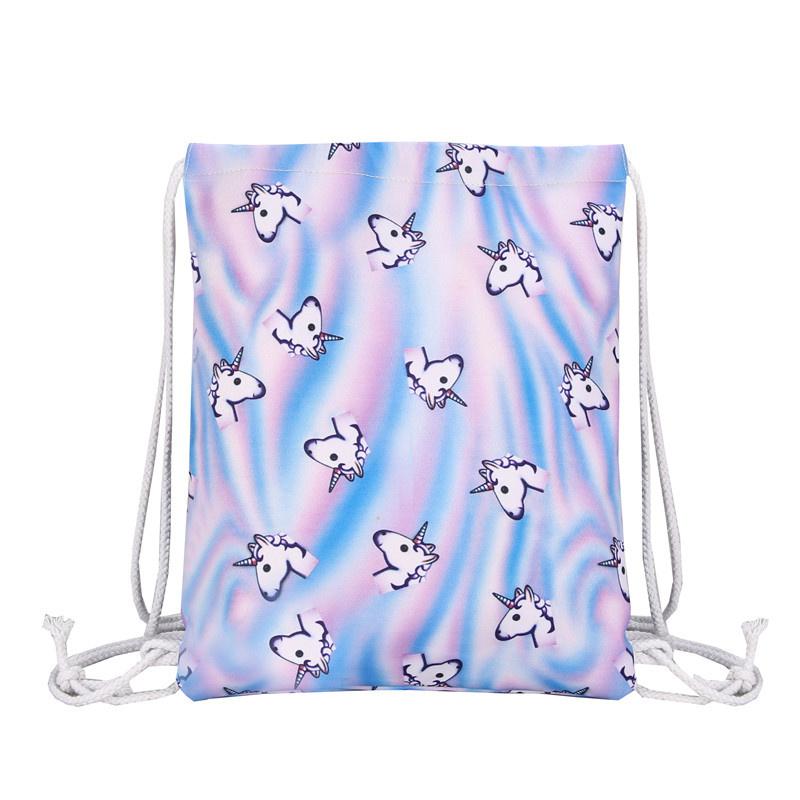 Unicorn rugzakje/gymtas blauw