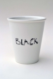 Koffiemok - Black coffee mug by Helen B