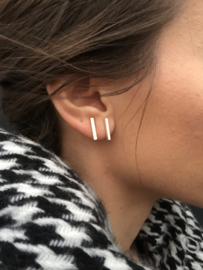 Oorbellen - Bar Large - Silver/Gold/Rose Gold