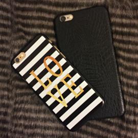 Telefoonhoesje - Iphone 6 Plus - Black Crocodile