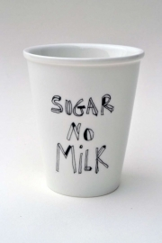 Koffiemok - Sugar no Milk coffee mug by Helen B