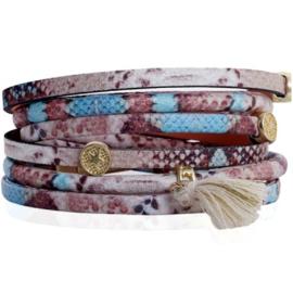 Armband - Snake Wrap Bracelet Blue