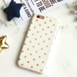 Telefoonhoesje - Iphone 6/6S - Golden Stars White