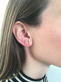 Oorbellen - Bar Medium - Rose Gold