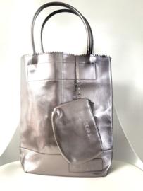Tas - Metallic Silver/Purple