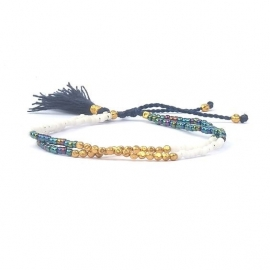 Armband - Gold & Blue Friendship