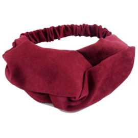 Haarband - Cross Headband Suede Red