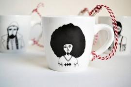 Koffiemok - Reggae Man mug by Helen B