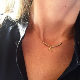 Ketting - Simple Wishbone - Gold Perfection