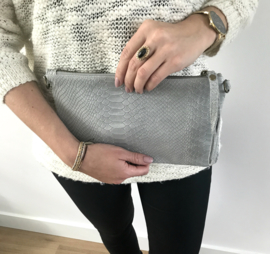 Tas - Real Leather Snake Grey
