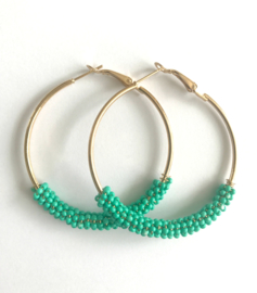 Oorbellen - Glamour Hoops Blue / Green