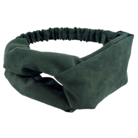Haarband - Cross Headband Suede Green