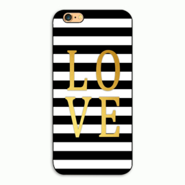 Telefoonhoesje - Iphone 6/6S - Love & Stripes
