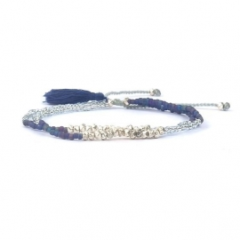 Armband -  Silver & Blue Friendship