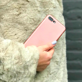 Telefoonhoesje - iPhone X - Rose Golden Metallic