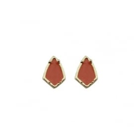 Oorbellen - Earstuds - Kite Rust Gold Plated