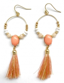 Oorbellen Chique ibiza - Pastel Orange