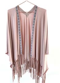 Omslagshawl - Bohemian Pink