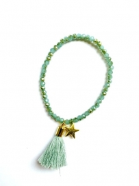 Choose Happy - Armband Turquoise Tassel
