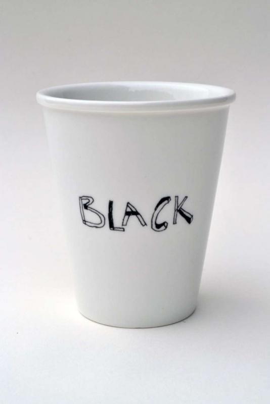 Koffiemok - Black coffee mug by Helen B