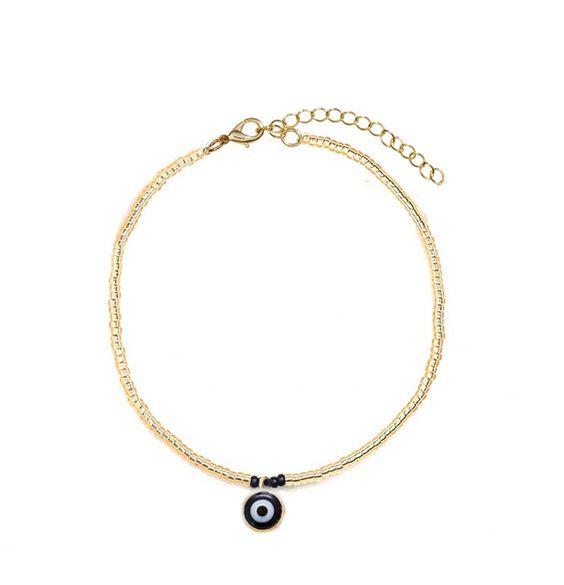 Armband - Evil Eye Black & Gold