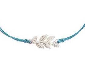 Armband - Pretty Leaf Blue