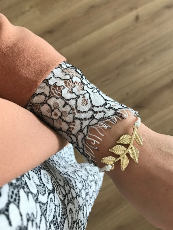 Armband - Pretty Leaf White