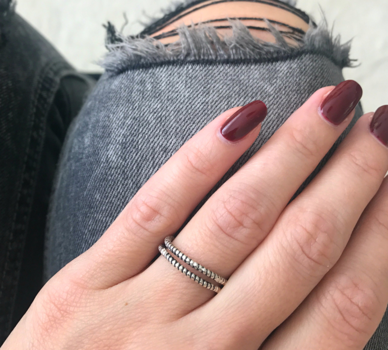 Ring Double Twisted - 925 Sterling Silver Plated
