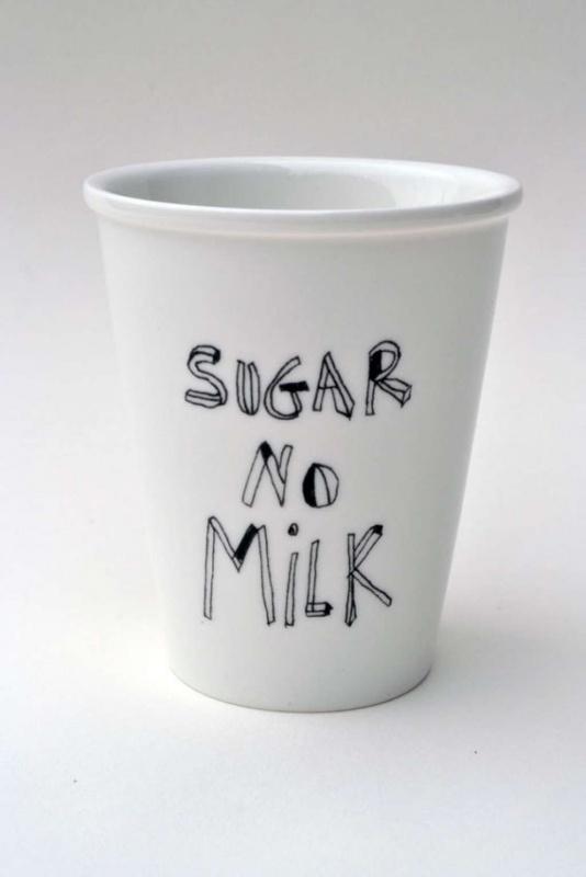 Koffiemok - Sugar no Milk coffee mug by Helen B