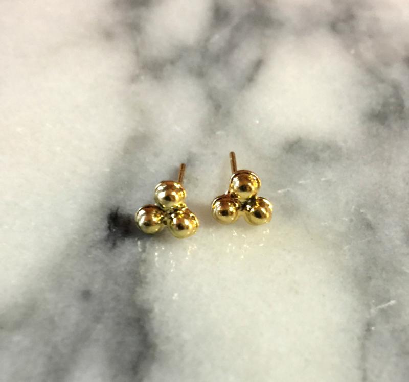 Oorbellen - Three Dots Gold