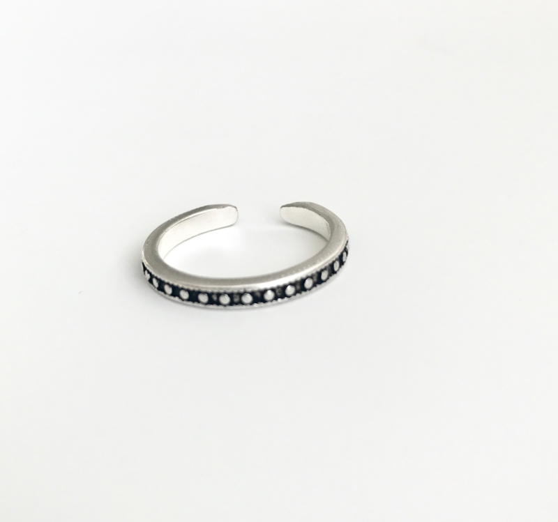 Ring Small Dots - 925 Sterling Silver Plated