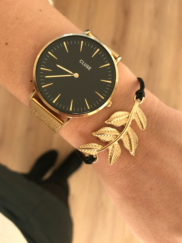 Armband - Pretty Leaf Black