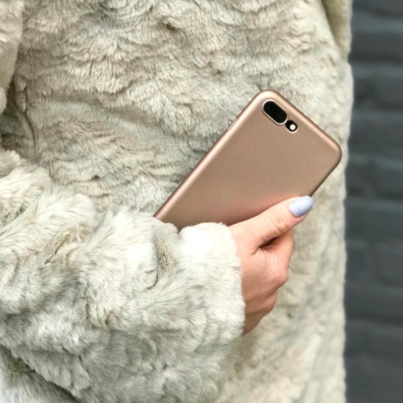 Telefoonhoesje - iPhone 7 Plus en iPhone 8 Plus - Golden Metallic