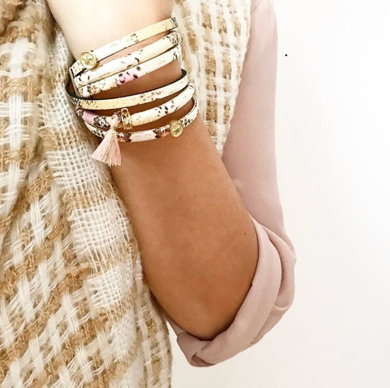 Armband - Snake Wrap Bracelet Beige