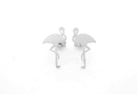 Oorbellen - Flamingo Silver