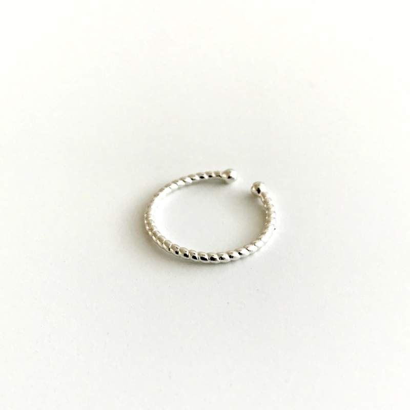 Ring Twisted - 925 Sterling Silver Plated