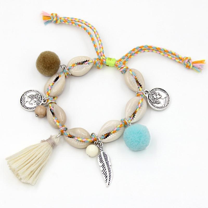 Armband / Enkelbandje - Boho Shells