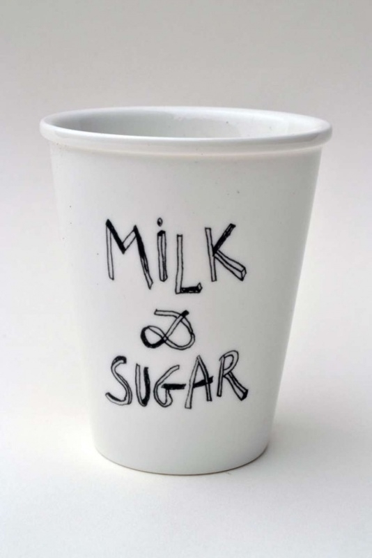 Koffiemok - Milk and Sugar coffee mug by Helen B