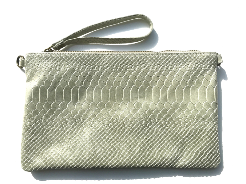 Tas - Real Leather Snake Green