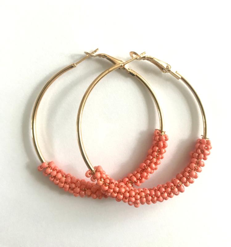 Oorbellen - Glamour Hoops Coral