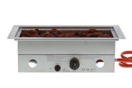 Cosi inbouwbrander rechthoek 52x32 cm RVS