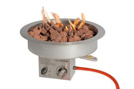 Easyfires Inbouwbrander rond RVS (40 cm)
