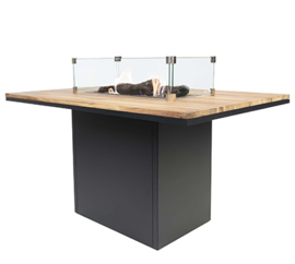 Cosiloft 120 High Dining Table Black/Teak