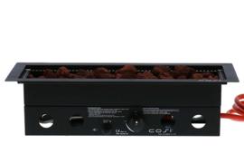 Cosi inbouwbrander lang rechthoek 60x22 cm zwart