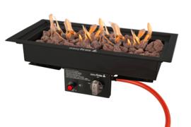 Easyfires Inbouwbrander 50x25 cm zwart