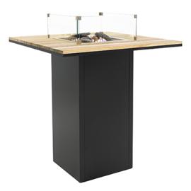 Cosiloft 100 Bar Tafel Zwart frame / Teak blad