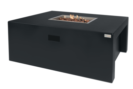 Easy Fires vuurtafel Sky rectangle Zwart