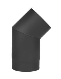 Kachelpijp Bocht 45 graden D150mm Zwart
